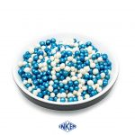 Crispies Coated with Cacaobutter Mix Glint White and Blue