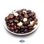 Star Coated with 80% dark, milk and white chocolate.